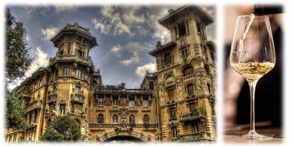 """Il Quartiere Coppedè: """"Passeggiando e pasteggiando fra arte e vino"""" – Visita storico-architettonica, cena e degustazione"""
