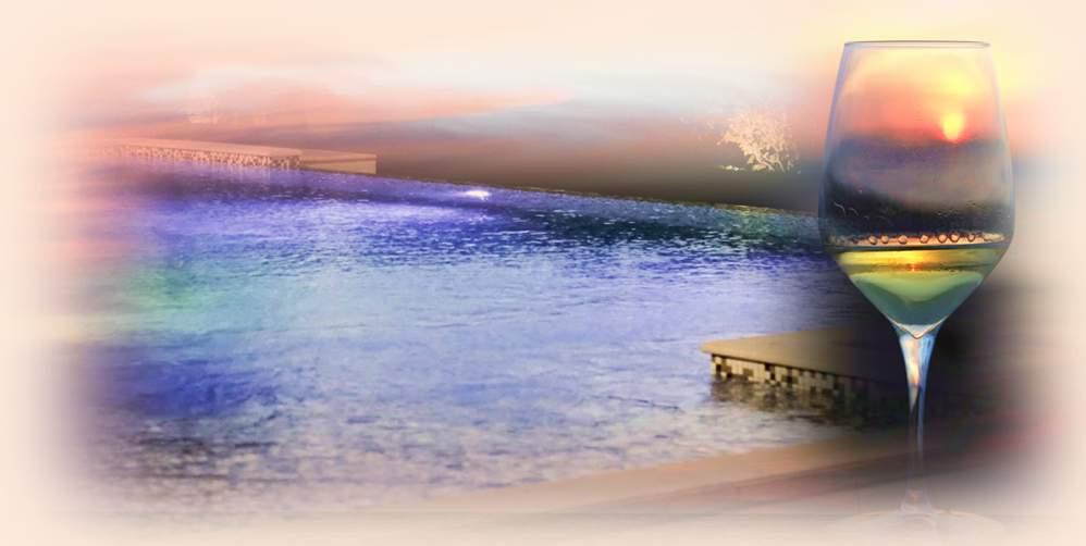 """""""Fra tramonto, vigneti e piscina"""" – Degustazione in vigna e in piscina"""